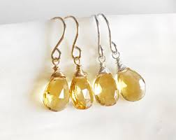 citrine earrings citrine earrings etsy