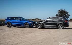 jaguar f pace blacked out 2016 jaguar f pace 30d vs bmw x3 xdrive30d comparison video