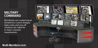 Computer Desk Work Station Military Training And Command Multi Monitor Computer Desk U2026 Flickr