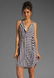 charles henry sleeveless button front dress in navy white stripe
