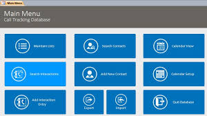 microsoft access call log interaction tracking database template