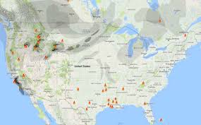 California Wildfire Map 2015 by Wildfire Smoke And Red Flag Warnings August 5 2016 U2013 Wildfire Today