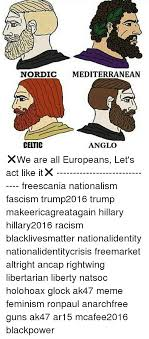 Meme Mediterranean - nordic mediterranean celtic anglo we are all europeans let s act