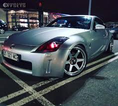 Nissan 350z Silver - wheel offset 2004 nissan 350z tucked coilovers