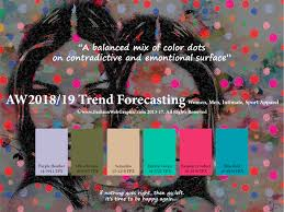 color forecast aw2018 2019 trend forecasting on behance