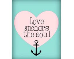 Quot Love Anchors The Soul - love anchors soul etsy