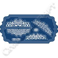 tattered lace ornamental lace card shapes 388179 create and craft