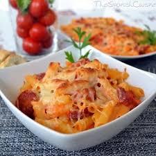 pasta with tomato sauce and chorizo recipe spanish food recipes