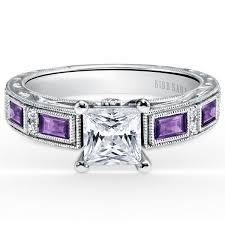 amethyst engagement rings kirk kara purple amethyst engagement ring