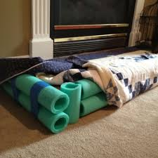 baby proof your fireplace hearth for 4 cut pool noodles to fit and tape together
