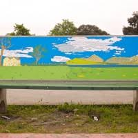 Benches In Park - bus stop bench project