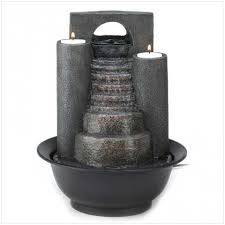eternal steps tabletop fountain fire and water fountain
