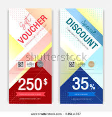 gift card discount portrait colorful and modern discount voucher or gift voucher for