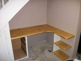 Build Corner Computer Desk Plans by Building A Corner Desk Under Stairs Loft Conversion Ideas
