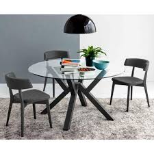 Circle Glass Table And Chairs Mikado Cb 4728 V 140 Round Glass Table By Connubia Calligaris