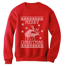 reindeer humping ugly christmas sweater sweatshirt merry xmas