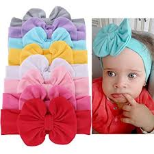 top knot headband baby girl soft bow turban headband top knot cotton