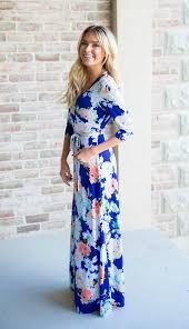 arabella royal blue floral maxi dress from bella ella boutique