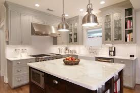 Traditional Kitchen Lighting Traditional Kitchen With Inset Cabinets Farmhouse Sink In