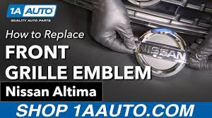 nissan altima coupe build your own how to replace install front grille emblem 2005 06 nissan altima