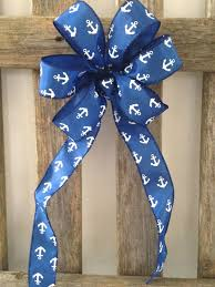 wedding gift bows nautical bow chair pew white anchor royal blue wedding gift bows