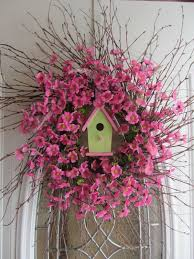 springtime wreaths birdhouse wreath greet your guests with a springtime wreath for