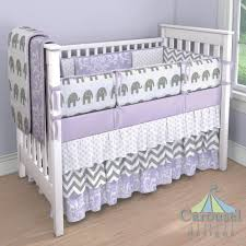purple and gray elephant crib bedding home beds decoration