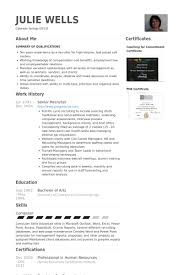 recruiter resume exles recruiter resume exles exles of resumes