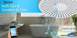 homewerks new bath fan is also a bluetooth speakers and led light