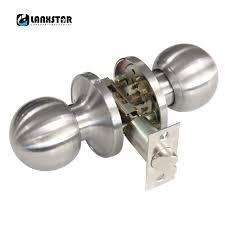Interior Keyless Door Locks Classical Stainless Steel Passage Keyless Door Lock Satin Nickel