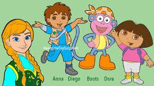 dora the explorer disney frozen anna coloring page fun coloring