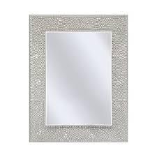 Mosaic Bathroom Mirrors by Rectangle Bathroom Vanity Mirror With Mosaic Crystal Floral Motif