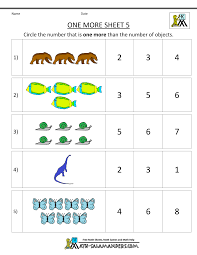 Free Math Worksheets Printable Kindergarten Math Worksheets Printable One More