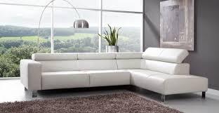canapé blanc cuir canape blanc cuir design moderne salon convertible idees couleur