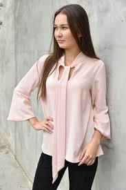 bow tie blouse closet pale pink bow tie blouse fancyhappy