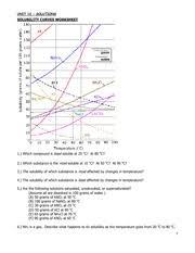 solubility worksheet 2 unit 12 solutions solubility curves