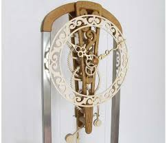 Free Wooden Clock Movement Plans by Wooden Wooden Gear Clock Plans Free Patterns Dxf Pdf Plans