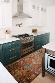 15 best green kitchen cabinet ideas 15 reasons why you need a rug in your kitchen