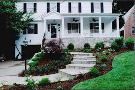 Colonial Front Porch Designs Custom Front Porch With Fieldstone Facing And Ceiling Fans Graces