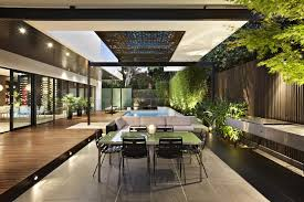 Relaxing Outdoor Space Of A House On Balaclava Road Australia