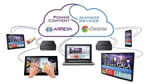chrome digital signage from arreya easy intuitive remote