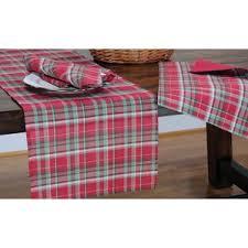plaid table runners you ll wayfair