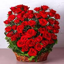 basket arrangements buy fifty roses heart shape basket arrangements online at best