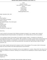 beautiful public relations assistant cover letter gallery