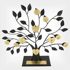 your personalized family tree with engraved family names birth
