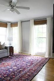 White Bamboo Curtains Living Room Updates Living Rooms And Room