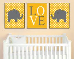 Grey And Yellow Nursery Decor by Yellow Gray Nursery Etsy