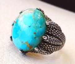 mens stone rings images Mens ring 925 silver ring arijona turqoise stone ring nageene jpg