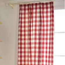 red and white bedroom curtains cotton classic red and white bedroom plaid curtains