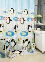 Bathroom Sets Shower Curtain Rugs Bathroom Products Bath Set Penguin Bathroom Set Shower Curtain